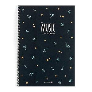 Caderno de Música Music Staff Notebook Azul - Morning Glory