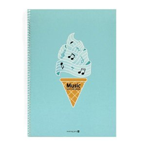 Caderno de Música Music Staff Notebook Azul Claro - Morning Glory