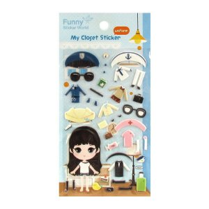 Adesivo Divertido Puffy - My Closet Sticker Uniform
