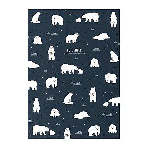 Caderno Brochura Le Cahier Urso Polar Azul Marinho - Artbox
