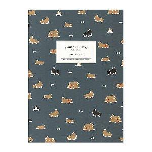 Caderno Brochura Cahier de Notes Cachorro Shiba Inu Azul - Artbox
