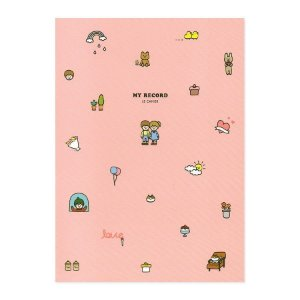 Caderno Brochura My Record Casal Rosa - Artbox