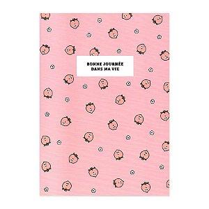 Caderno Brochura Bonne Journée Dans Ma Vie Bean Friends Pêssego Rosa - Artbox