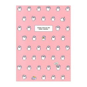 Caderno Brochura Chaque Jour Est Une... Galapagos Friends Boss Rosa - Artbox