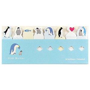 Post-it Stick Marker Pinguim Azul