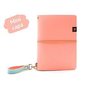 Mini Capa Peach (Para 4 Mini Blocos) Para Mini Planner A.Craft