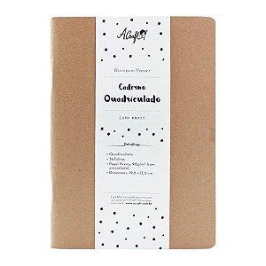 Caderno Quadriculado Kraft Para Planner A.Craft Tamanho Padrão