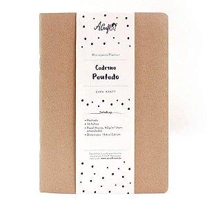 Caderno Pautado Kraft Para Planner A.Craft Tamanho Padrão