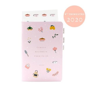 Planner Datado 4º Trimestre 2020 Colorido Para Planner A.Craft Tamanho Padrão
