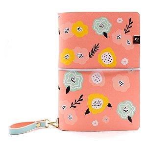 Capa Peach Primavera (Para 4 Blocos) Para Planner A.Craft Tamanho Padrão