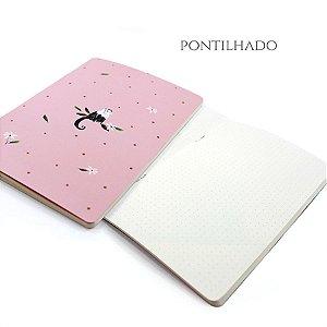 Caderno Pontilhado Cute Monkey Para Planner A.Craft Tamanho Padrão