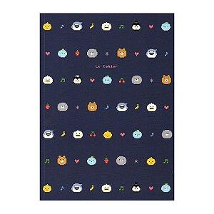 Caderno Brochura Le Cahier Galapagos Friends Pixel Azul - Artbox