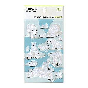 Adesivo Divertido Feltro - Polar Bear [WINTER]