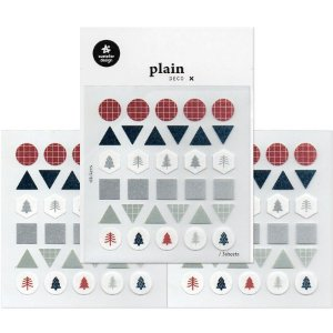 Adesivo Divertido Papel - 3 Cartelas Plain Deco + n.12