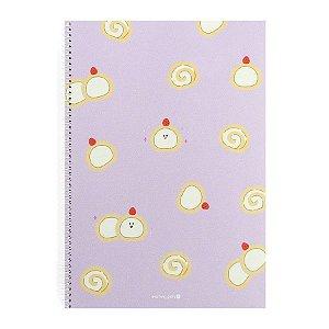 Caderno Espiral Rocambole Roxo - Morning Glory