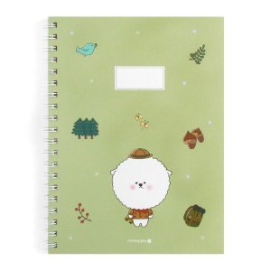 Caderno Espiral Pautado Capa Dura Notebook Bonjour Bichon Cachorrinho Verde - Morning Glory