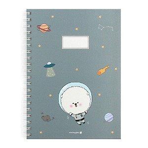 Caderno Espiral Capa Dura Notebook Bonjour Bichon Cachorrinho Azul Escuro - Morning Glory