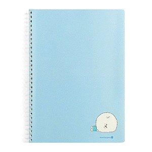 Caderno Espiral Capa de Papel Bichon Cachorrinho Azul - Morning Glory