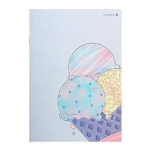 Caderno Brochura Sorvete de Casquinha Azul M - Morning Glory