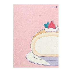 Caderno Brochura Rocambole Rosa M - Morning Glory