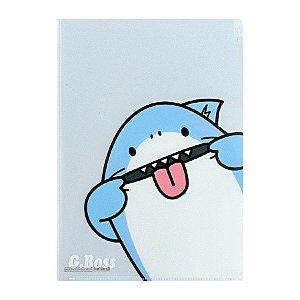 Pasta Plástica em L 3 Divisórias Tubarão G.Boss - Artbox
