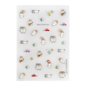 Pasta Plástica em L 2 Bolsos M Always Be With You Cachorrinho Shiba & Skii - Artbox