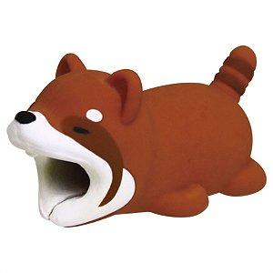 Enfeite e Protetor de Cabo iPhone Tipo Cable Bite - Panda Vermelho