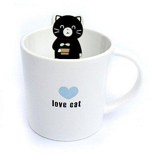 Caneca de Cerâmica Gato Love Cat Branco