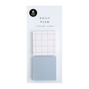 Post-it Stick Daily Plan Sticky Memo Quadrados Quadriculado Azul - Suatelier