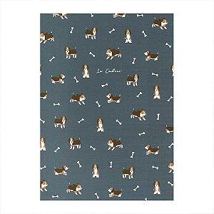 Caderno Brochura Le Cahier Cachorro Azul Marinho - Artbox