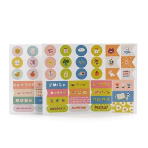 Kit com 4 Cartelas de Adesivos Pequenas Alegrias para Planner A.Craft - Tamanho Padrão e Mini