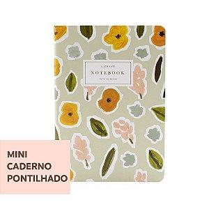 Mini Caderno Pontilhado Flores de Outono Para Mini Planner A.Craft