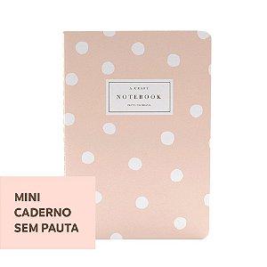Mini Caderno Sem Pauta Champagne Rosé Para Mini Planner A.Craft