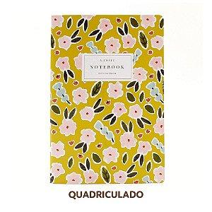 Caderno Quadriculado Primavera Romântica Para Planner A.Craft Tamanho Padrão