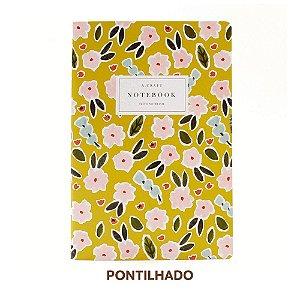 Caderno Pontilhado Primavera Romântica Para Planner A.Craft Tamanho Padrão