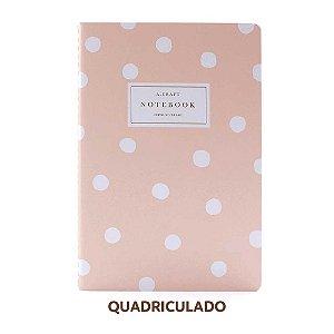 Caderno Quadriculado Champagne Rosé Para Planner A.Craft Tamanho Padrão