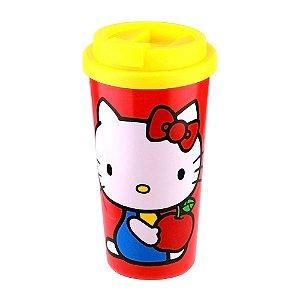 Copo Plástico 500ml Grab N' Go Hello Kitty Apple Vermelho