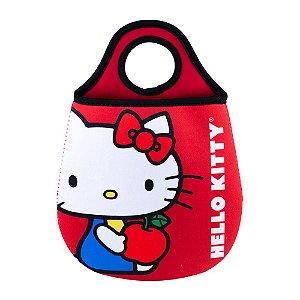 Lixeira Para Carro de Neoprene Hello Kitty Apple Vermelho