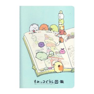 Caderneta Pautada Média Brochura Ilustrada Sumikko Gurashi Azul