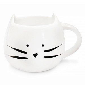 Caneca de Cerâmica Gato Branco