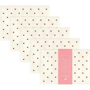 Kit Mini Envelopes Pattern Envelope Set Coração Vermelho