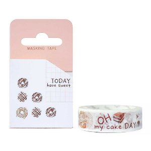 Fita Decorativa Washi Tape - Doces Today Have Sweet Rosquinhas