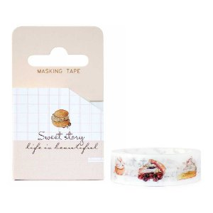 Fita Decorativa Washi Tape - Doces Sweet Story Choux Cream