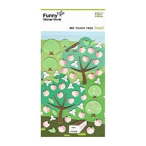 Adesivo Divertido Feltro - Peach Tree [TREE]