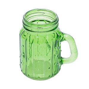 Mini Copo Jarra de Vidro Cacto Verde
