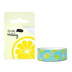 Fita Decorativa Washi Tape - Frutas Nice Holiday Limão Amarelo