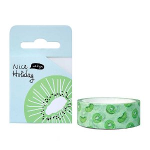 Fita Decorativa Washi Tape - Frutas Nice Holiday Kiwi Verde