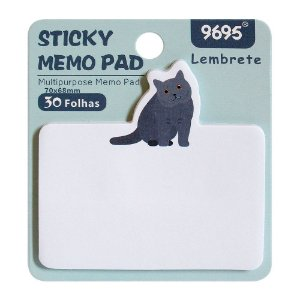 Post-it Sticky Memo Pad 9695 - Gato Azul