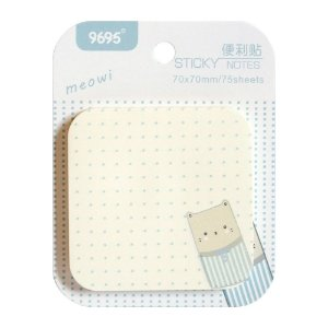 Post-it Sticky Notes Meowi 9695 - Gato Branco e Azul