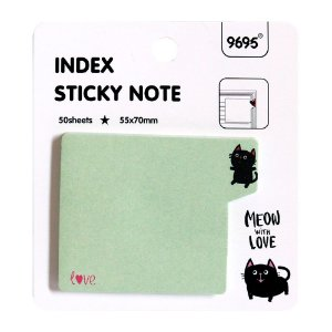 Post-it Index Sticky Note 9695 - Gato Verde